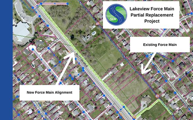 Lakeview Force Main Partial Replacement Project Map News Flash